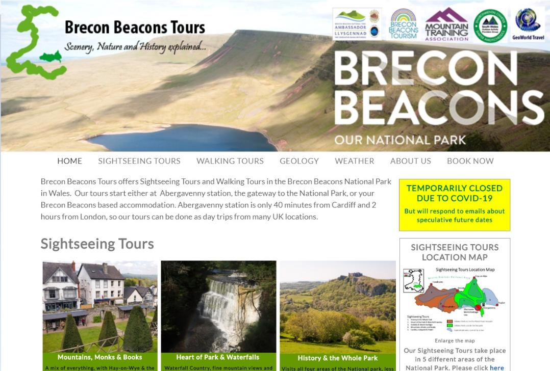 Brecon Beacons Tours website