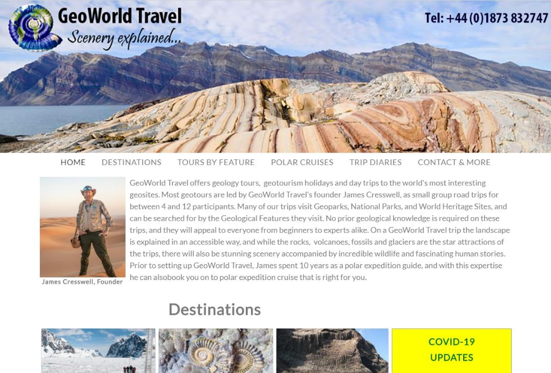 GeoWorld Travel website