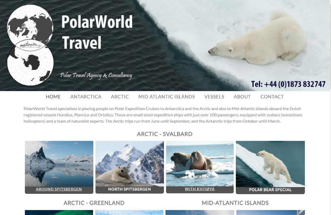 PolarWorld Travel website James Cresswell